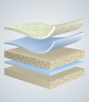 Cellitex latex layers illustration
