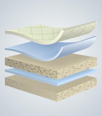 Cellitex latex layers illustration of cellitex latex mattress