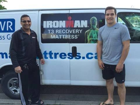 Ironman mattress for athlete Bo Horvat